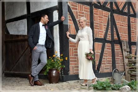 Hochzeitsfoto, Diesdorf, Museumsdorf, Landkreis Salzwedel